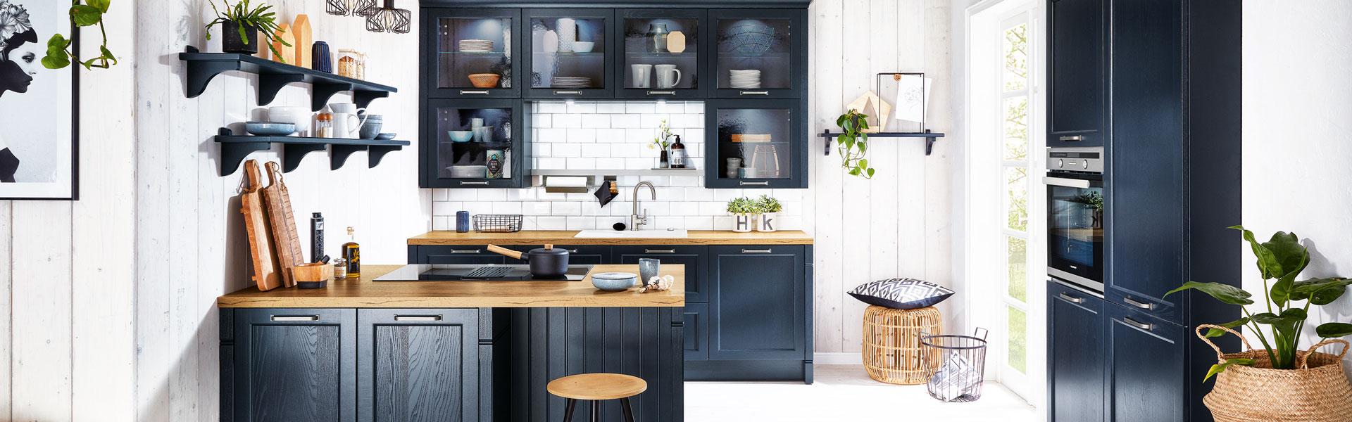 Blauwe klassieke keuken | Eigenhuis Keukens
