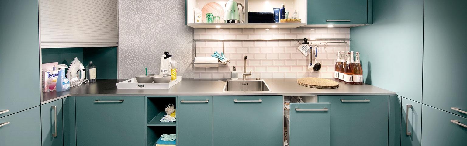 Blauwe u-keuken | Keuken inspiratie | Eigenhuis Keukens