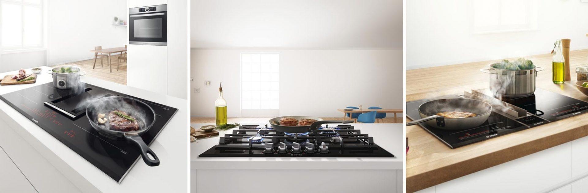Gas- inductie- of keramische kookplaat