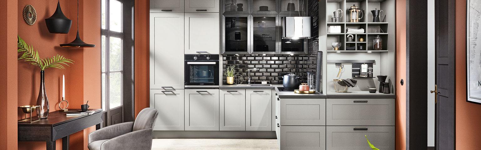 Grijze keuken van Eigenhuis Keukens