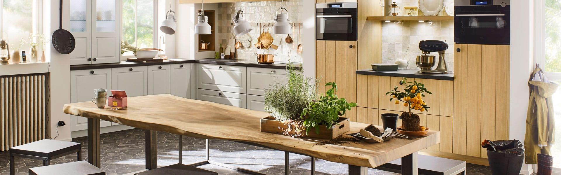 Landelijke keukens hout en voorbeelden