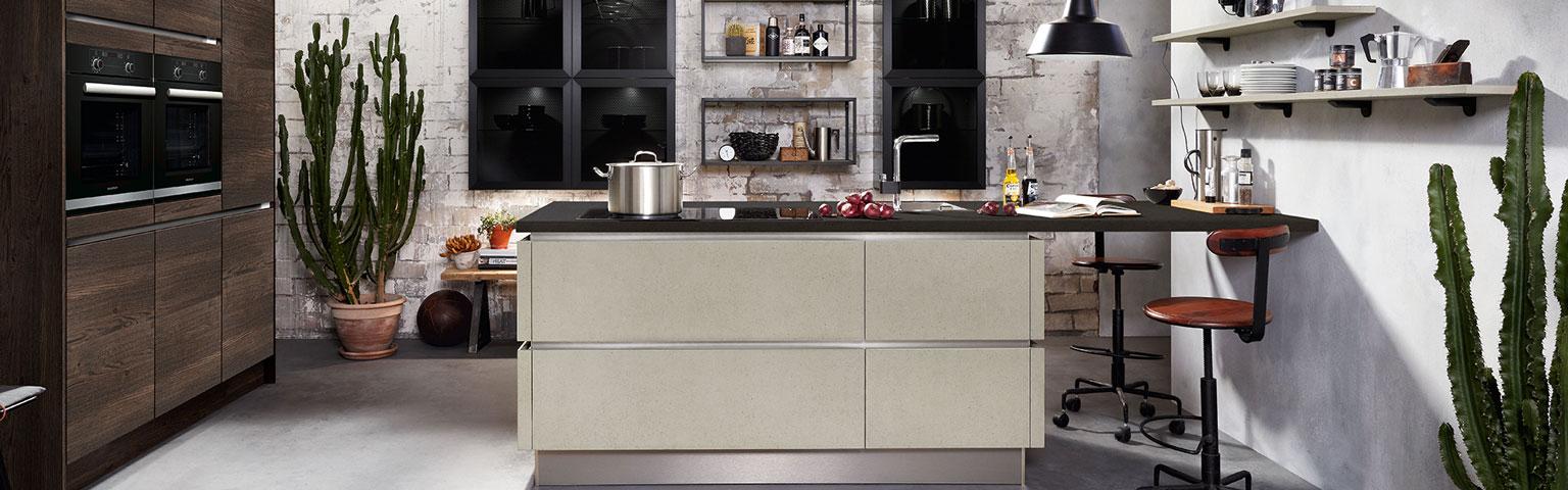 Moderne betonlook keuken | Keuken inspiratie