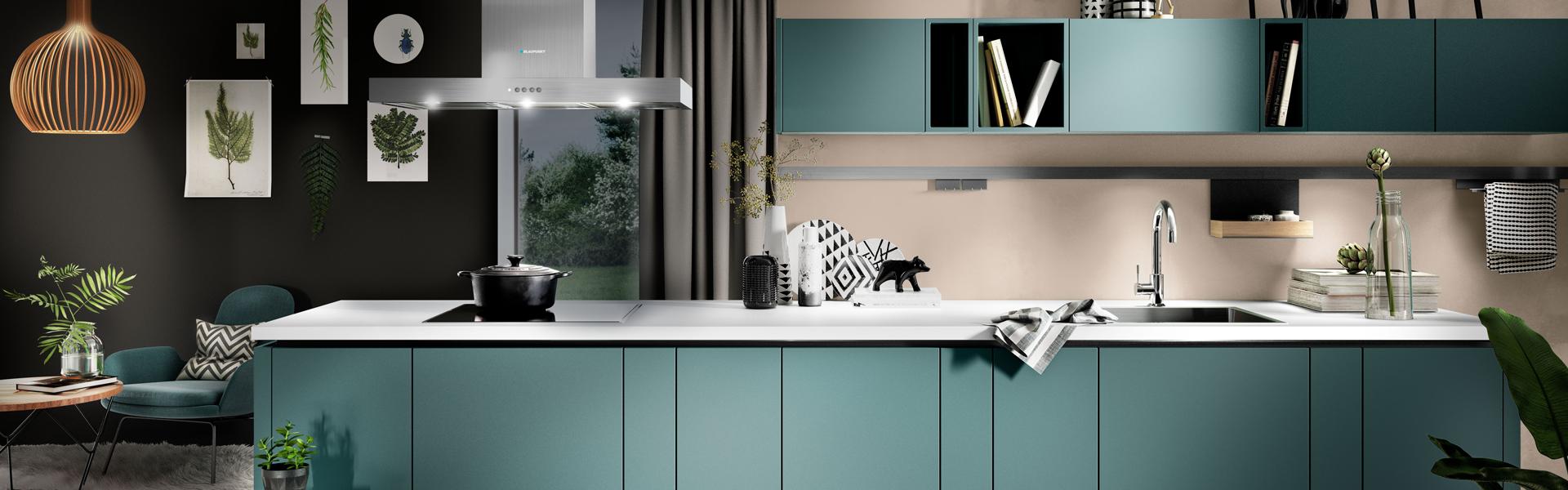 Rechte blauwe keuken | Eigenhuis Keukens