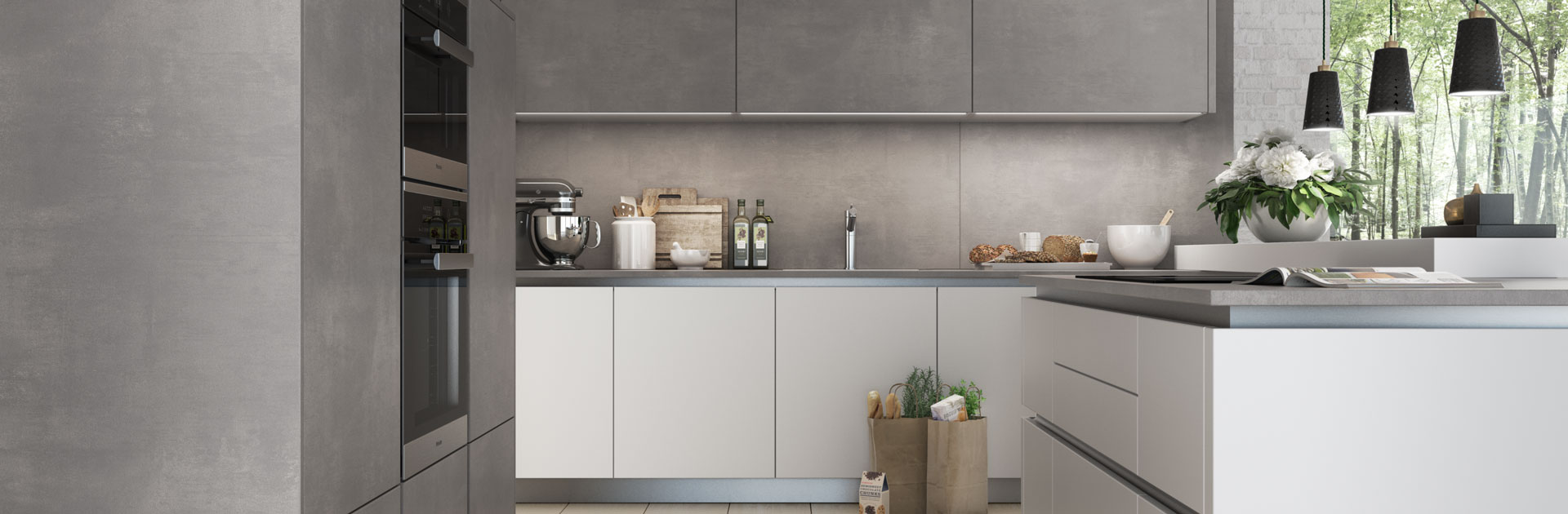 Witte betonlook keuken | Eigenhuis Keukens