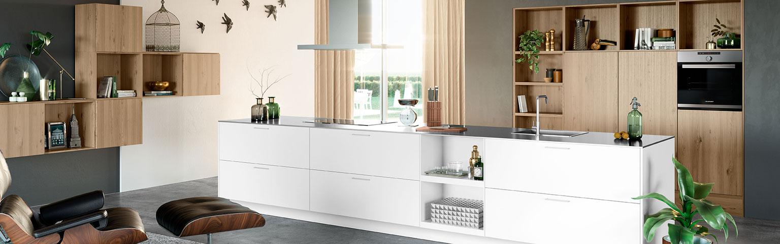 Witte moderne keuken | Eigenhuis Keukens